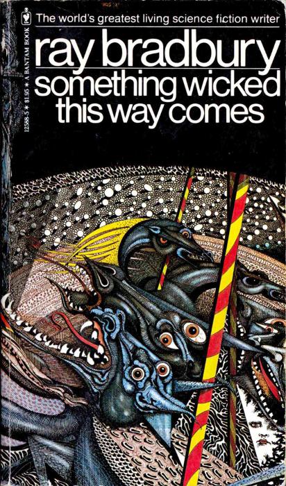 "Обложка книги ""Something Wicked This Way Comes"", переизданной в 1978 году"