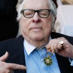 "Ray Bradbury attends a luncheon celebrating the Golden Globe nominated Best Foreign Language Film (France) ""I've Loved You So Long"" at the residence of The Consul General of France-Los Angeles on January 9, 2009 in Beverly Hills, California. (Photo by Vince Bucci/Getty Images)"
